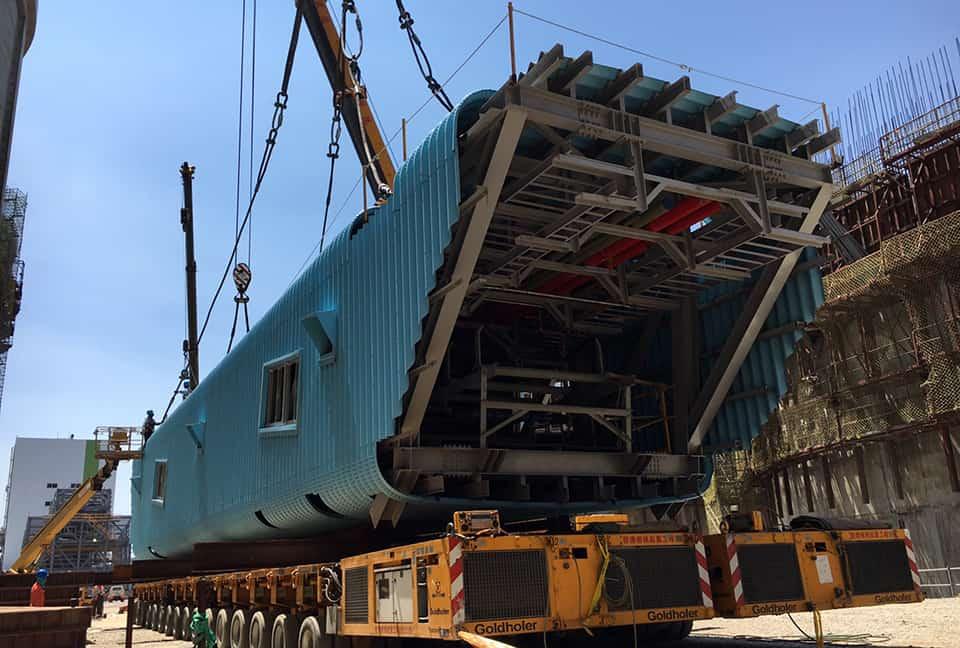 林口250噸輸送帶運輸及吊裝