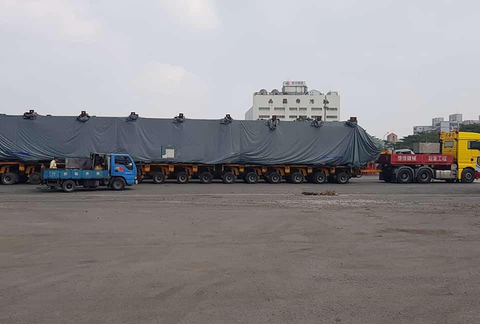 嘉惠電廠180噸模組運輸及吊裝